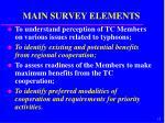 main survey elements