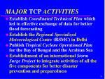major tcp activities