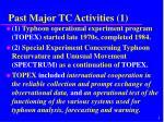 past major tc activities 1
