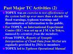 past major tc activities 2