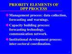 priority elements of dpp process
