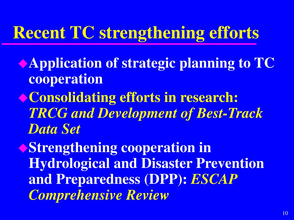 Recent TC strengthening efforts