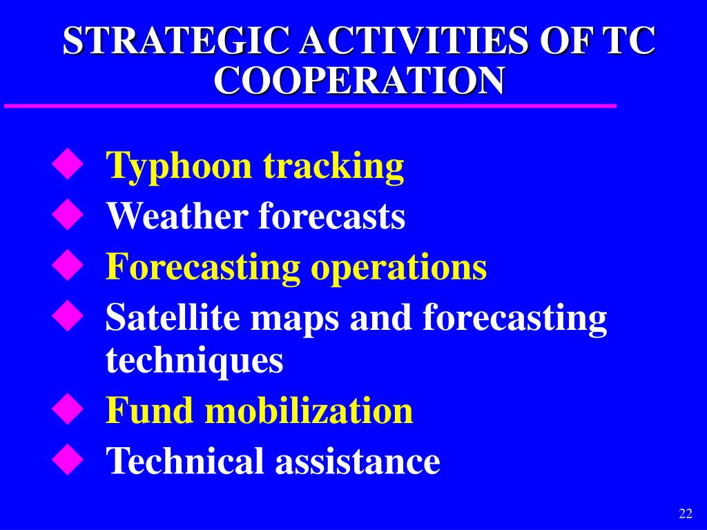 STRATEGIC ACTIVITIES OF TC COOPERATION