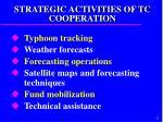 strategic activities of tc cooperation