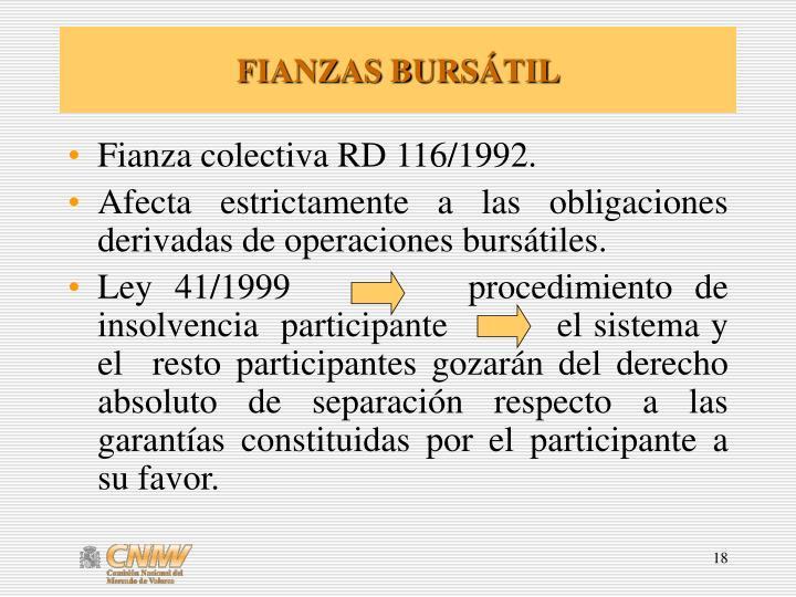 FIANZAS BURS