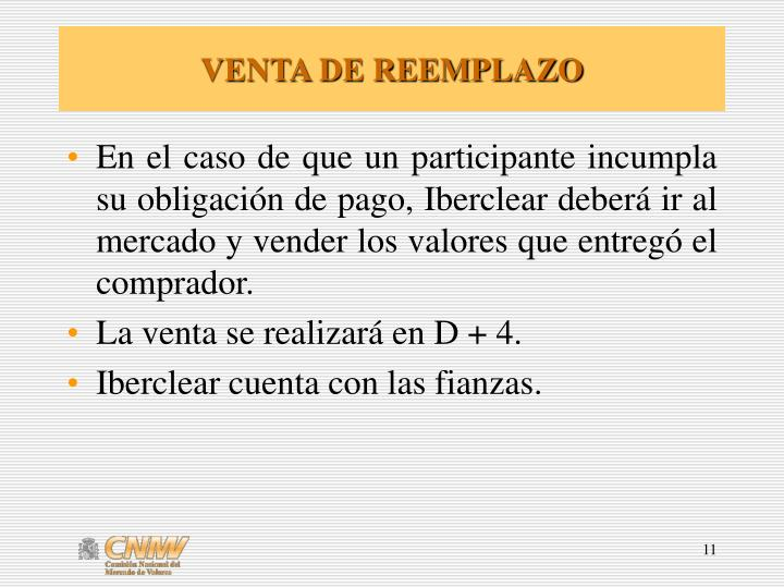 VENTA DE REEMPLAZO
