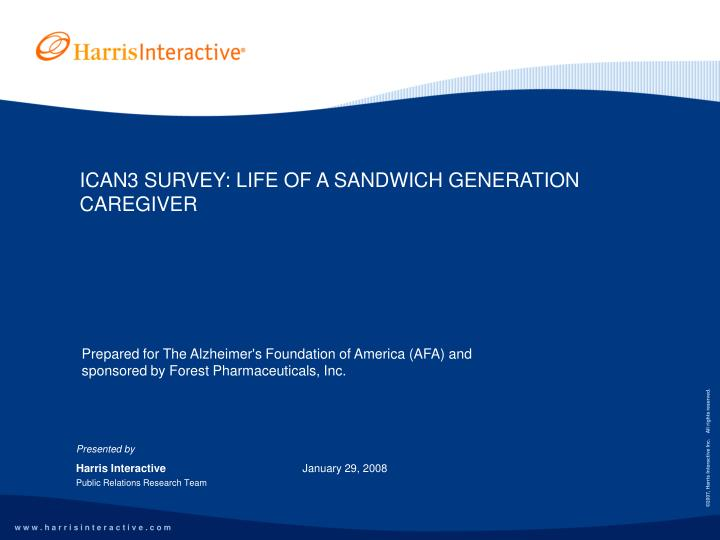 Ican3 survey life of a sandwich generation caregiver