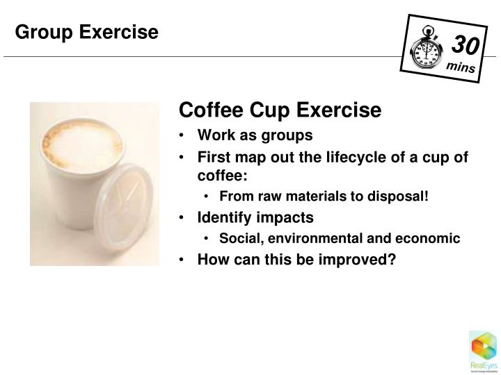 Coffee Cup Exercise