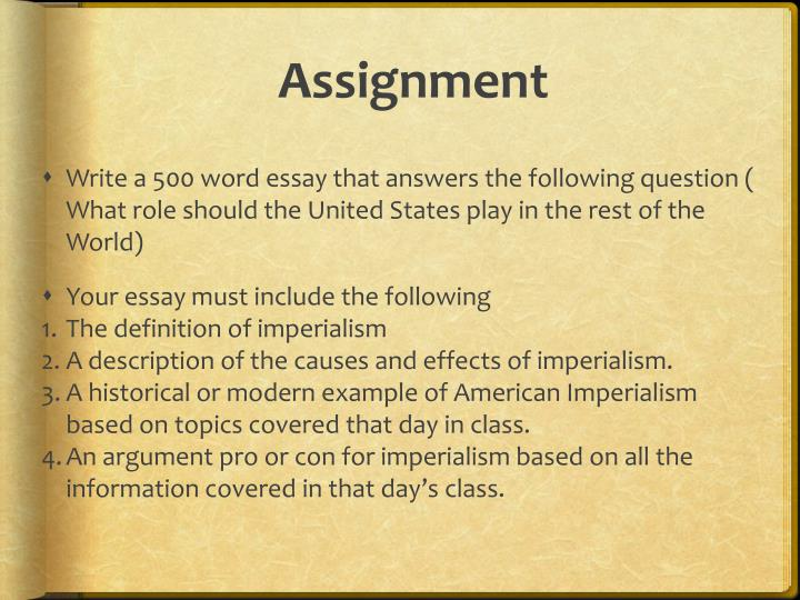 Causes of new imperialism essay