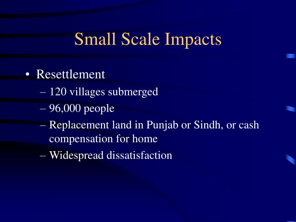 Small Scale Impacts