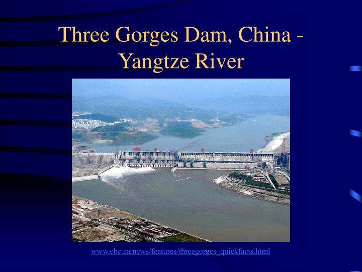 Three gorges dam china yangtze river