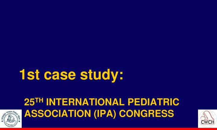 1st case study: