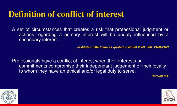 Definition of conflict of interest
