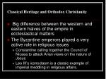 classical heritage and orthodox christianity1
