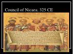 council of nicaea 325 ce