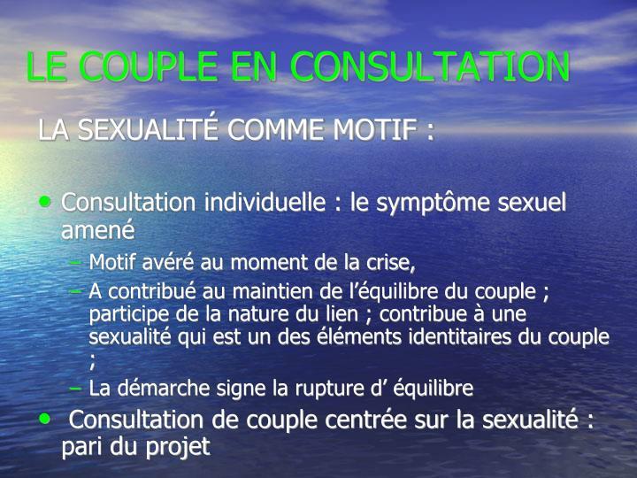 LA SEXUALITÉ COMME MOTIF :