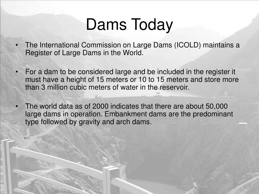 Dams Today