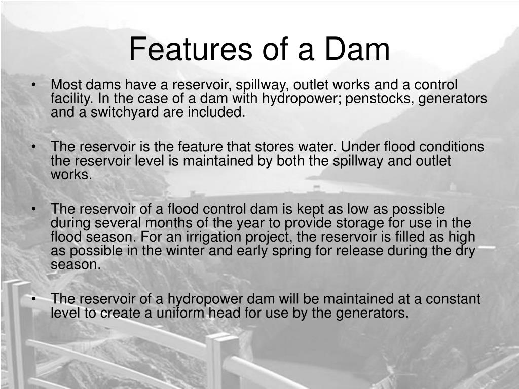 Features of a Dam
