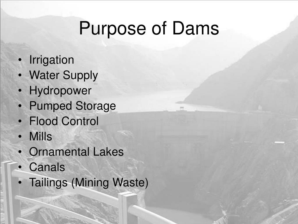 Purpose of Dams