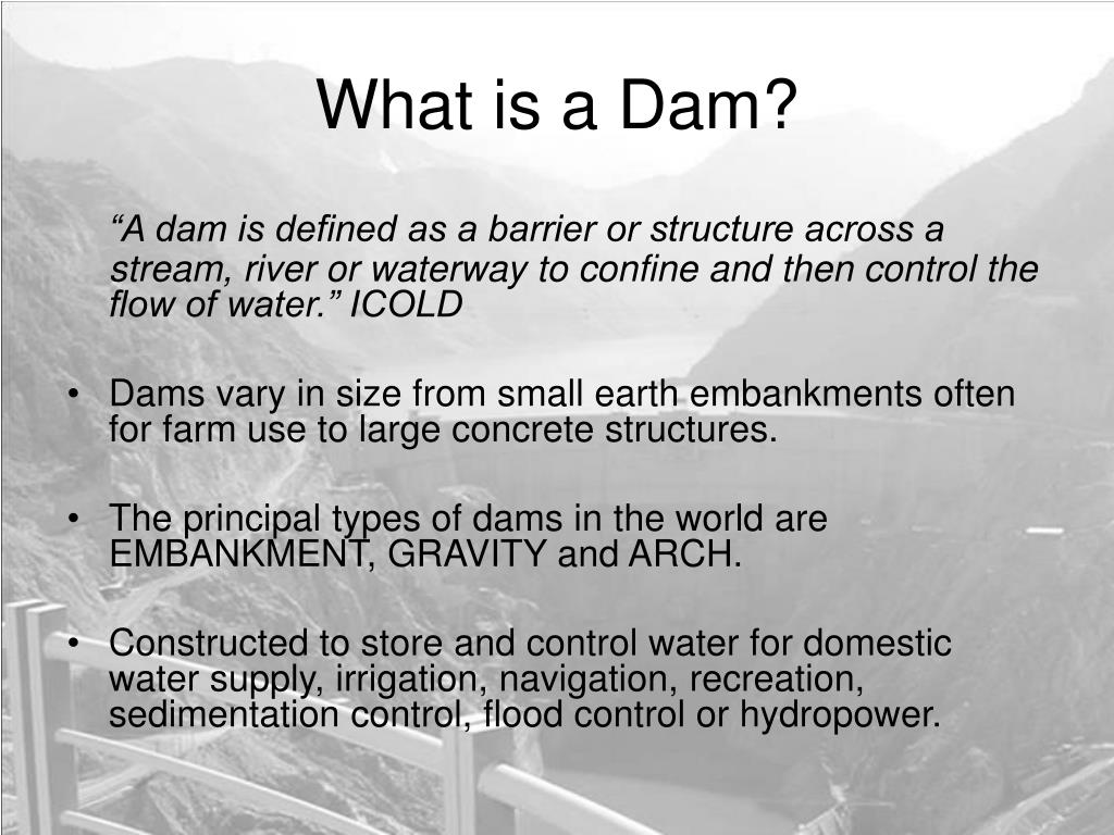 What is a Dam?