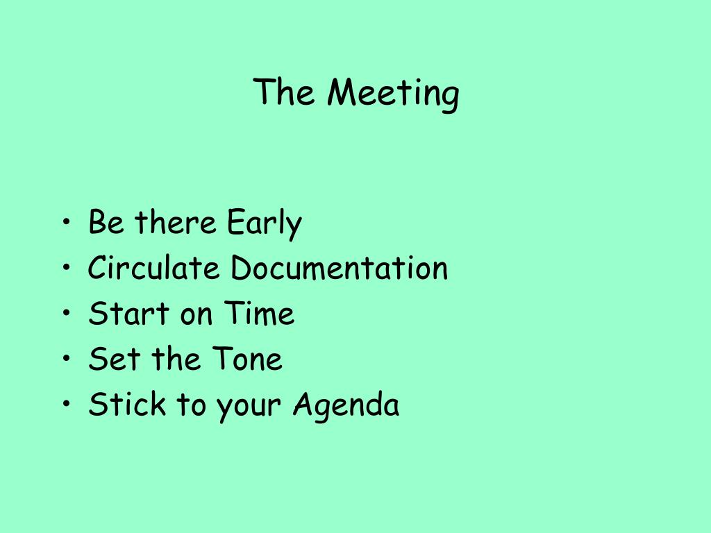 The Meeting