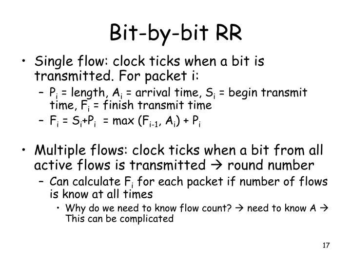 Bit-by-bit RR