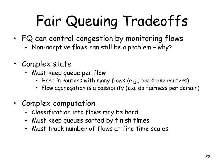 Fair Queuing Tradeoffs