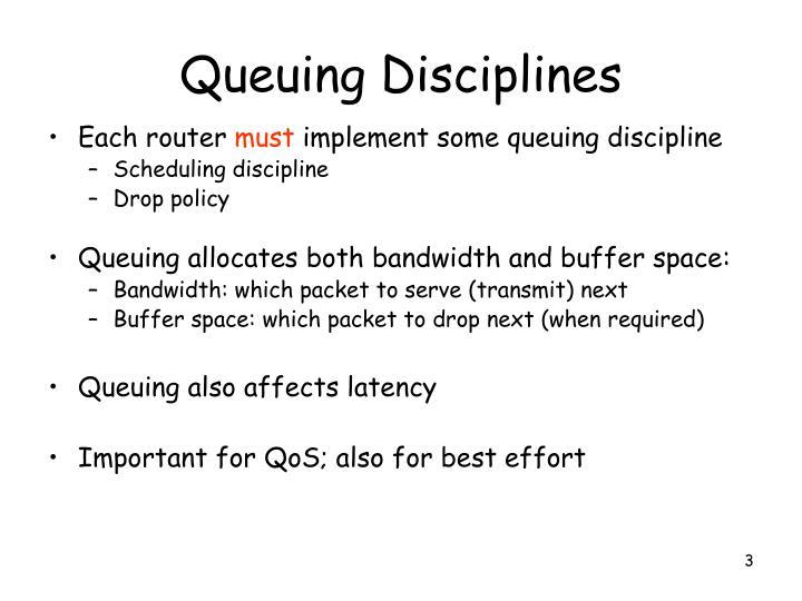 Queuing Disciplines