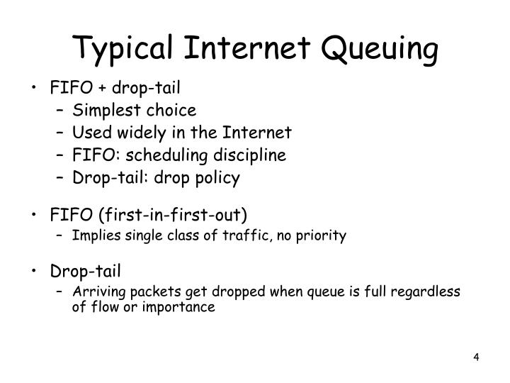 Typical Internet Queuing