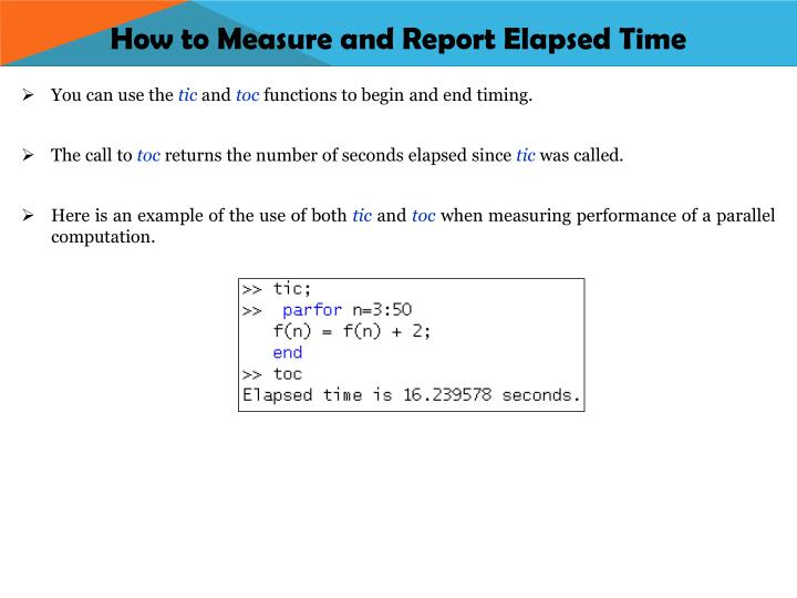 How to Measure and Report Elapsed Time