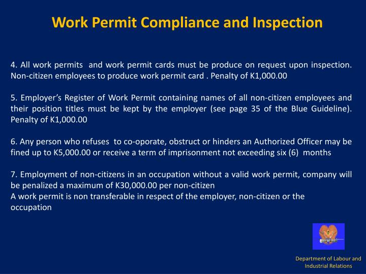 Work Permit Compliance and Inspection