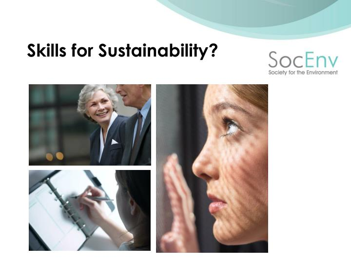 Skills for Sustainability?