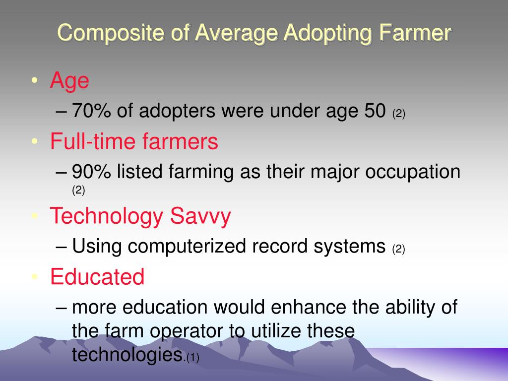 Composite of Average Adopting Farmer