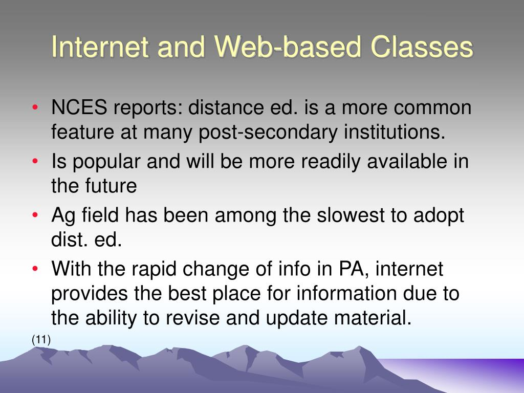 Internet and Web-based Classes