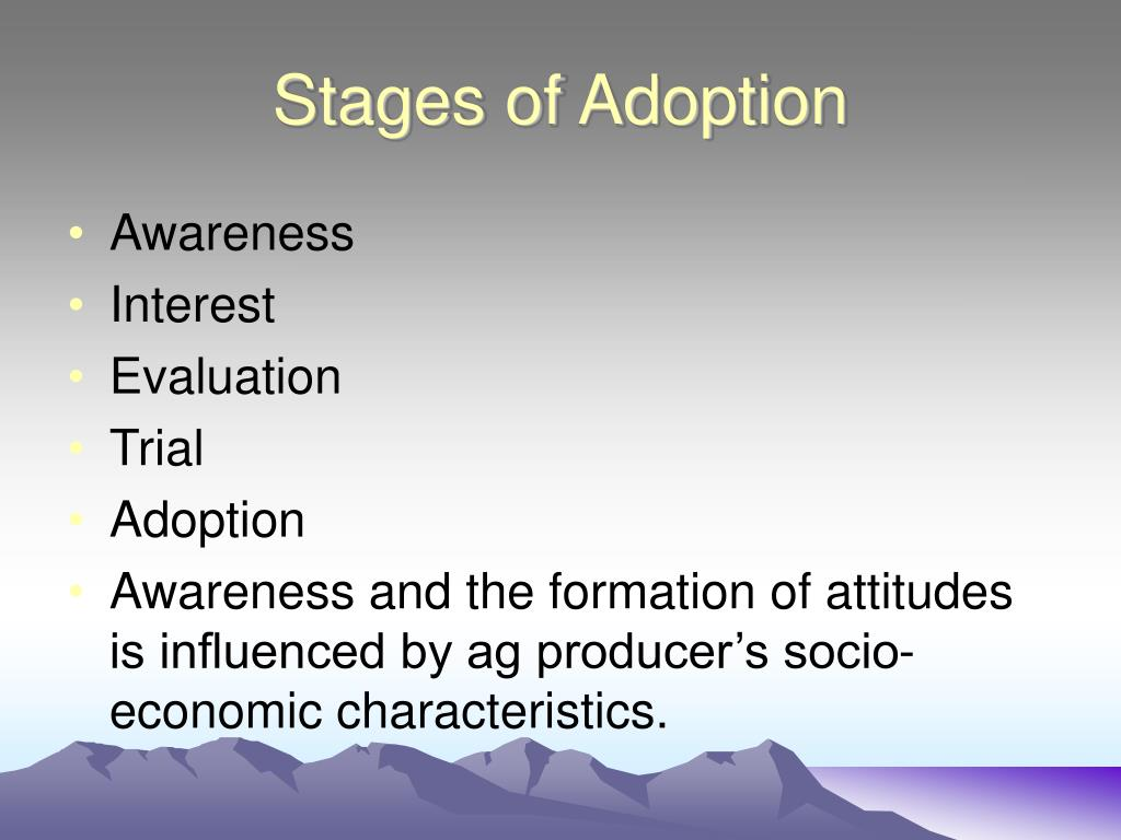 Stages of Adoption