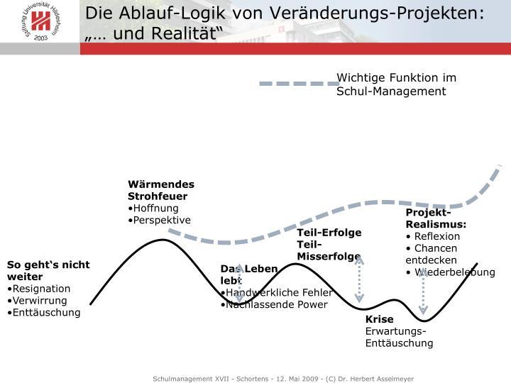 Die Ablauf-Logik von Veränderungs-Projekten: