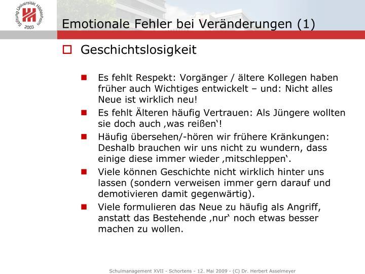 Emotionale Fehler bei Veränderungen (1)