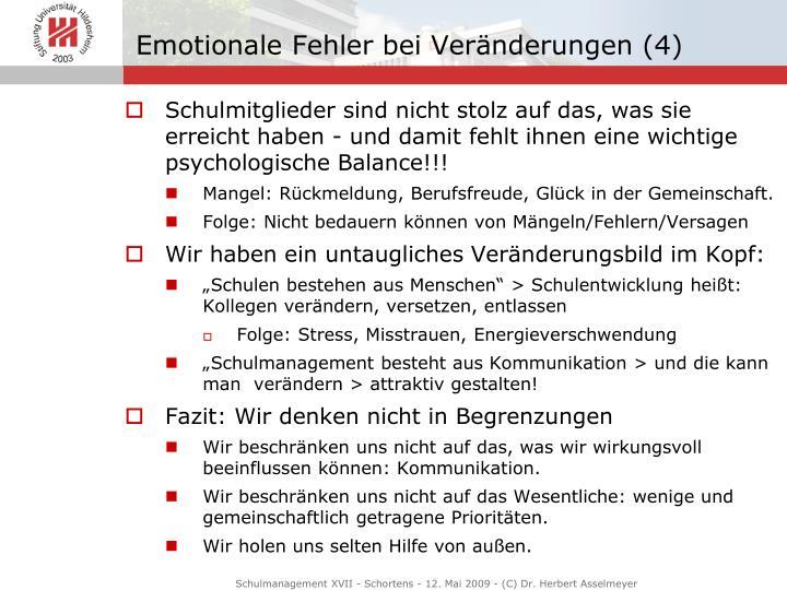 Emotionale Fehler bei Veränderungen (4)