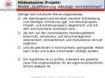 hildesheimer projekt modell qualifizierung st ndiger vertreterinnen