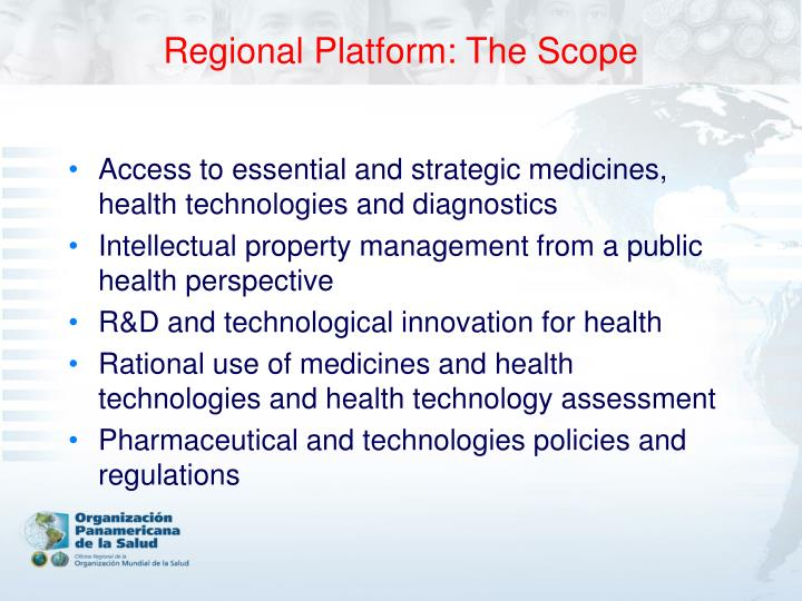 Regional Platform: The Scope
