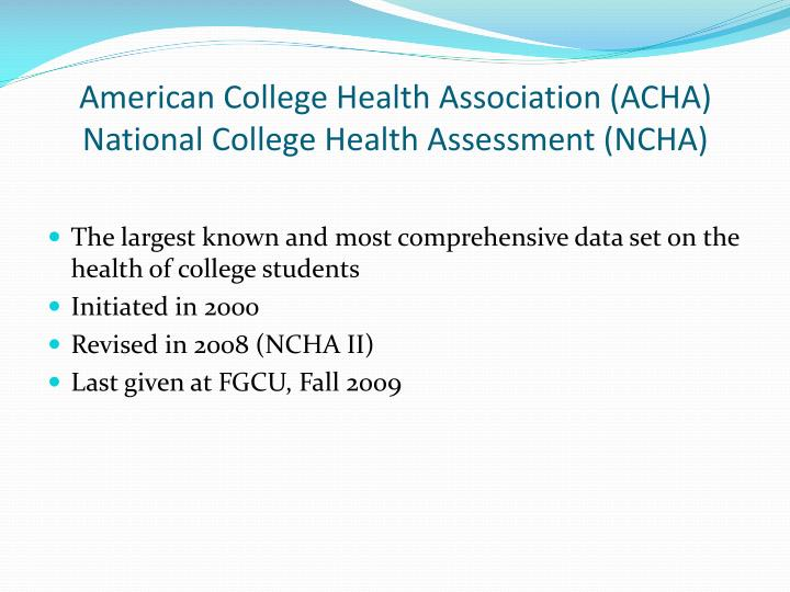 American College Health Association (ACHA)