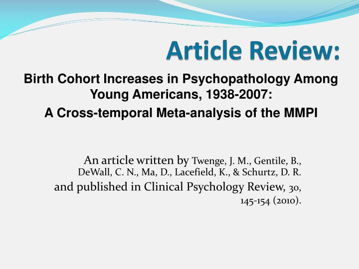 Article Review: