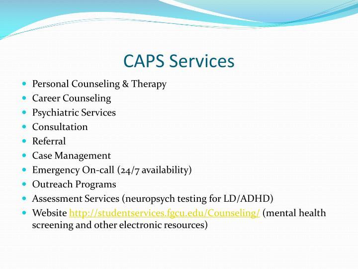 CAPS Services