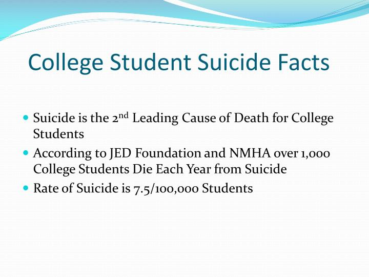 College Student Suicide Facts
