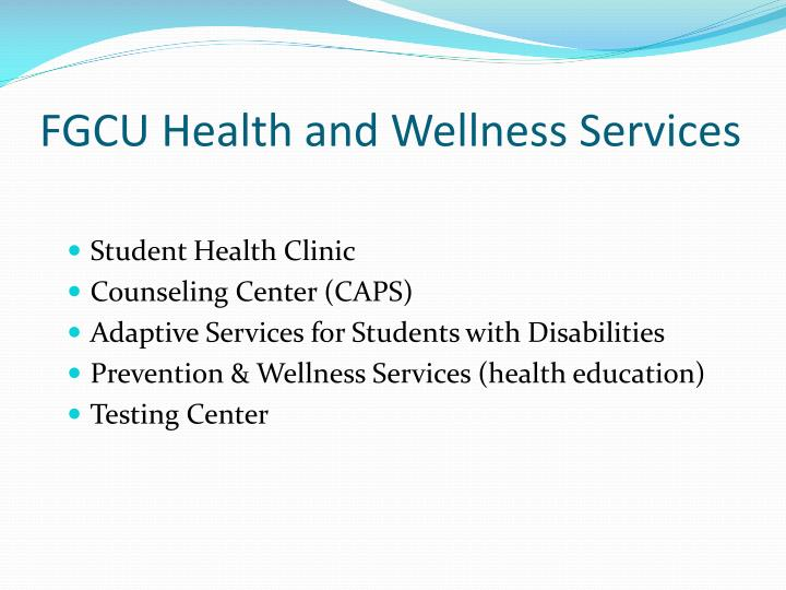 Fgcu health and wellness services