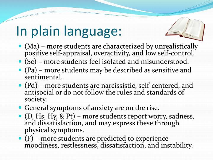 In plain language: