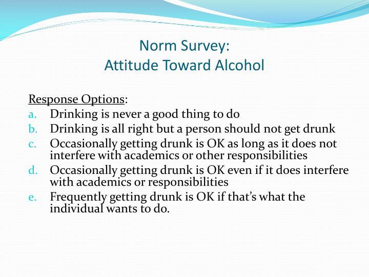 Norm Survey: