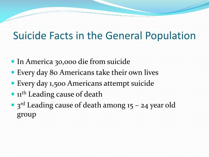 Suicide Facts in the General Population