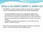 what is the mmpi mmpi 2 mmpi a