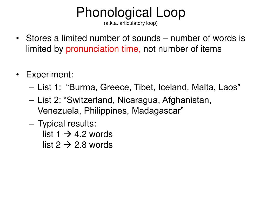 Phonological Loop